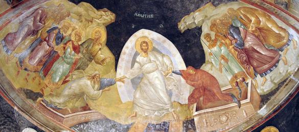 «Воскресение Твое, Христе Спасе, Ангели поют на Небесех, и нас на земли сподоби чистым сердцем Тебе славити»
