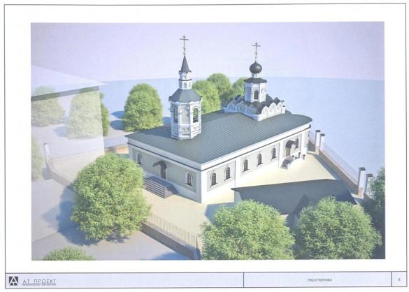 Проект восстановления храмовых пристроек