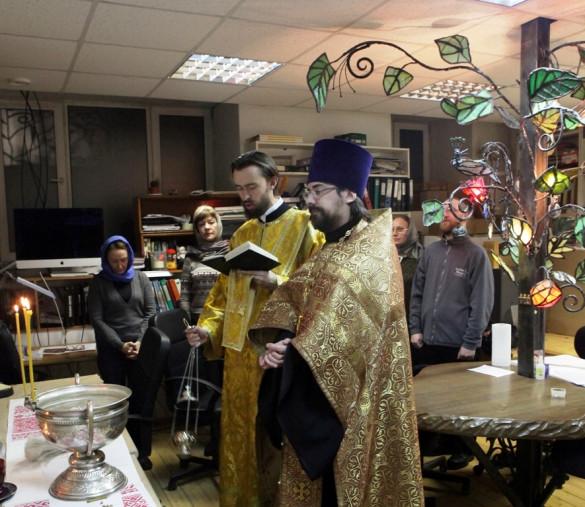 Молебен в Иконописной мастерской Екатерины Ильинской