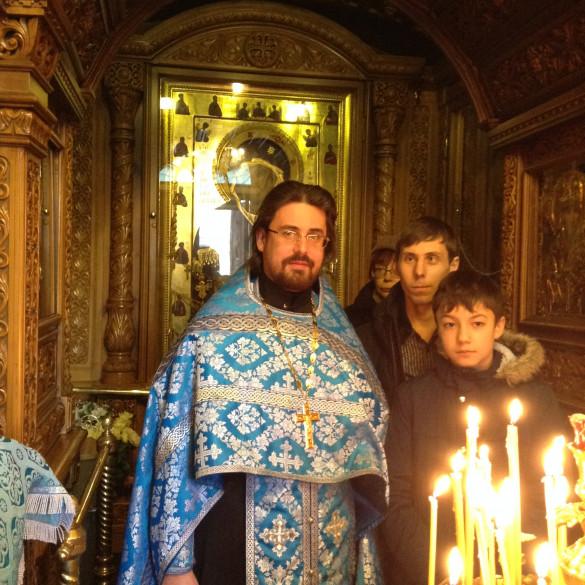 Молебен в Иверской часовне