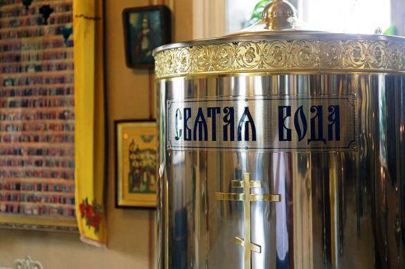 В храме появился бак для святой воды на 550 литров!