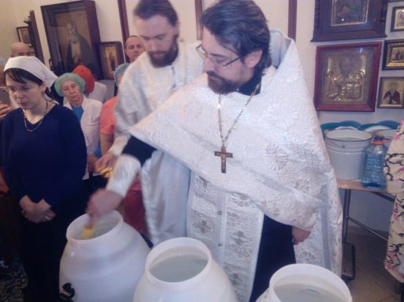 Великое освящение воды в РНЦХ им. Петровского