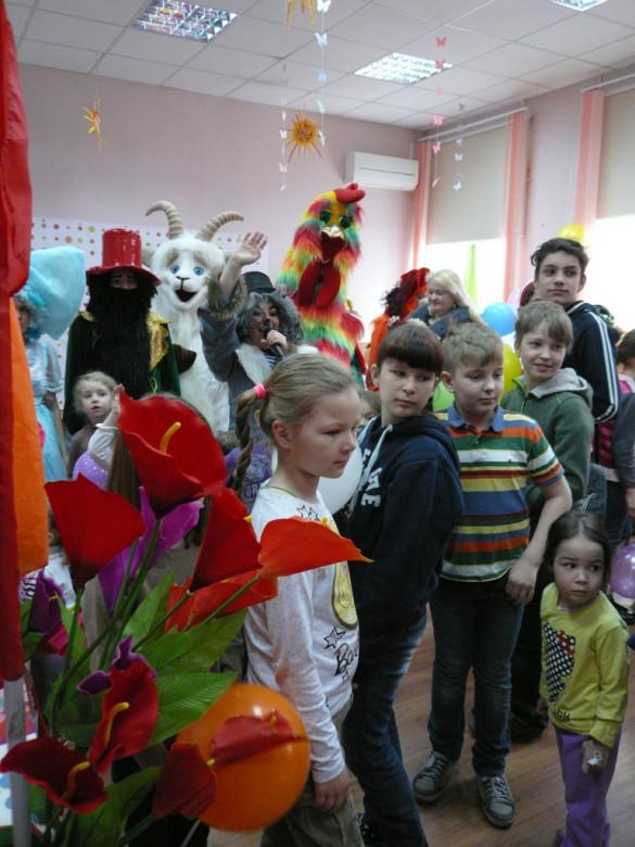 Детский праздник в социальном центре