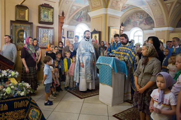 В храме прошёл молебен на начало нового учебного года