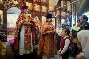 Проповедь настоятеля храма священника Александра Птицина и священника храма Дмитрия Сорокина